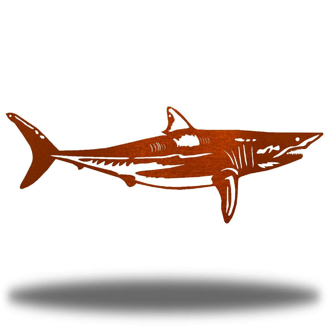 Copper steel shark wall decoration