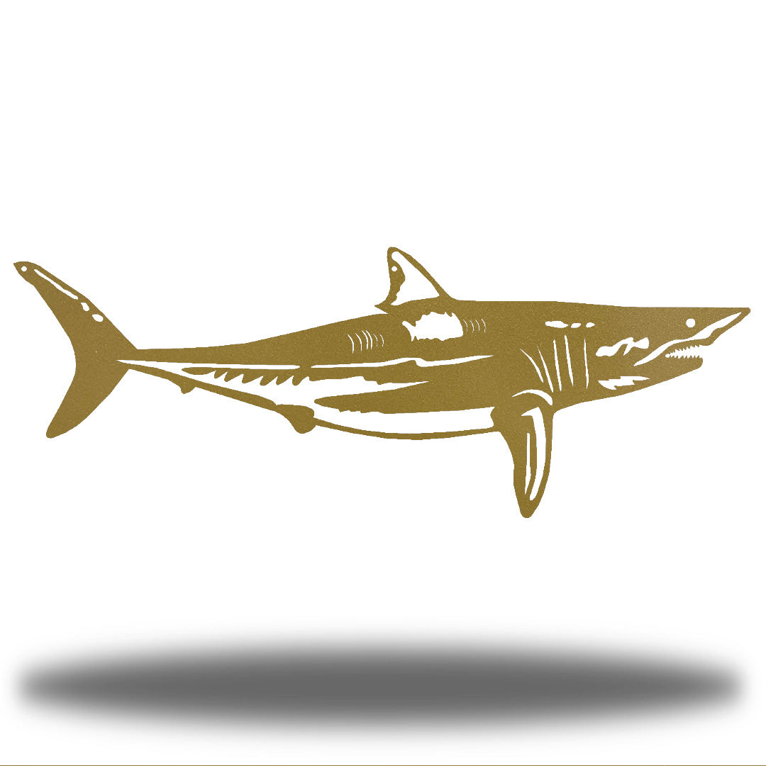 Gold steel shark wall decoration