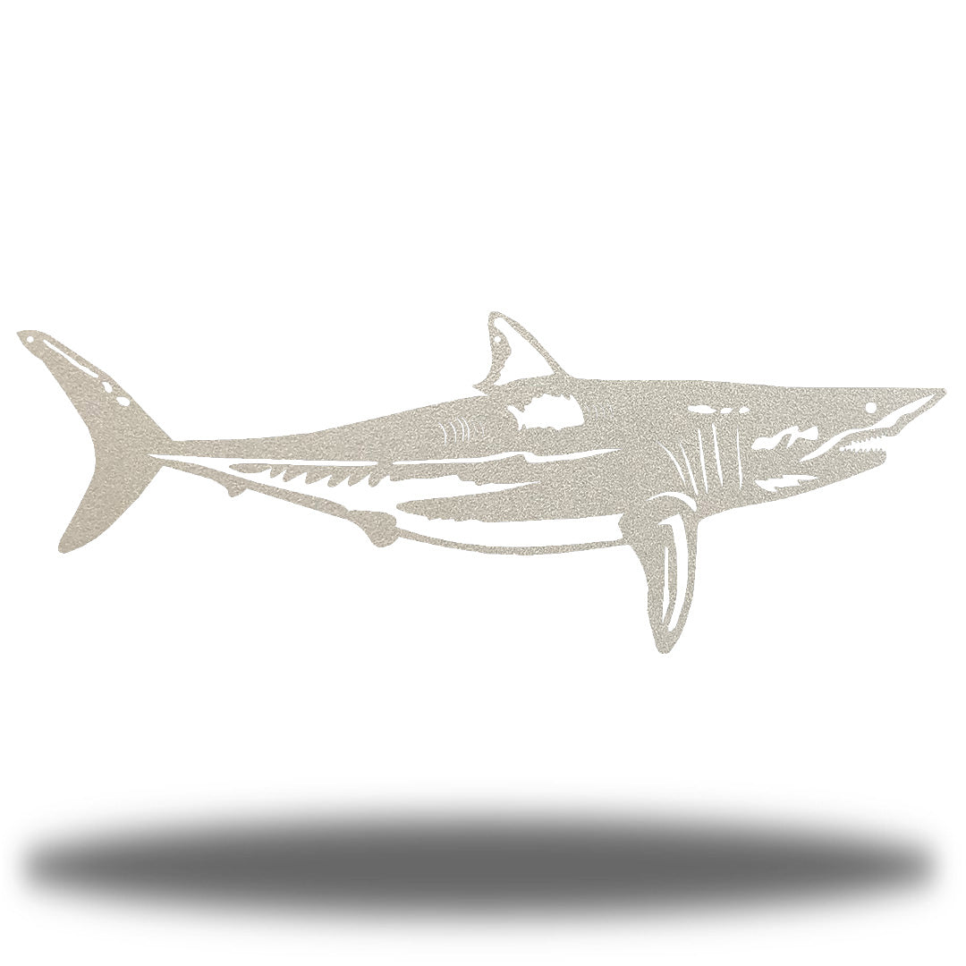Silver steel shark wall decoration
