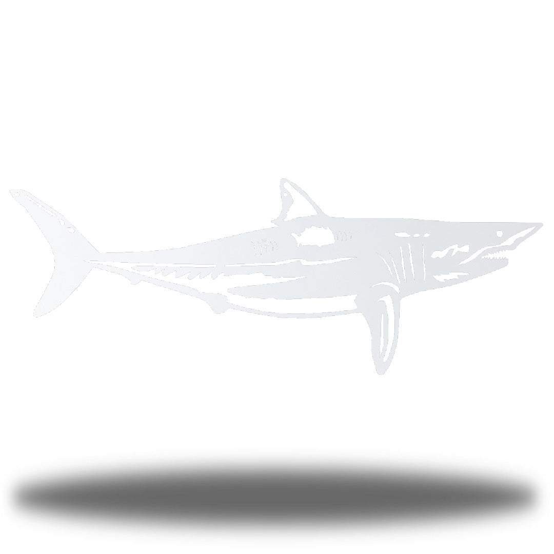 White steel shark wall decoration