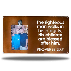 Proverbs 20:7 Picture Board