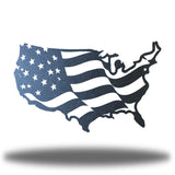 Black USA-shaped US flag wall decoration