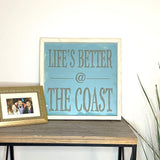 Coast Life Wood Sign