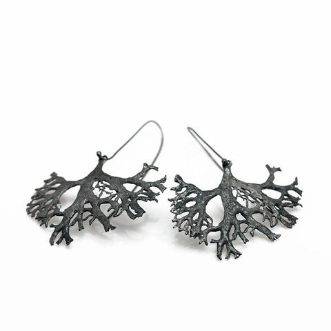 The tree earrings - oxidized Silver