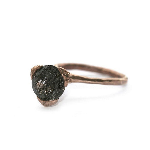 The cone ring - Bronze with rutile Quartz
