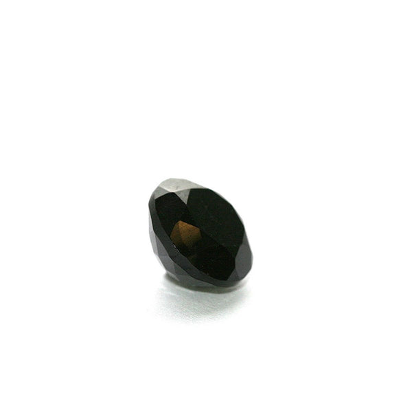 The cone ring - Oxidized Silver with black Agate