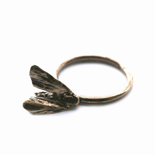 The moth ring - Bronze