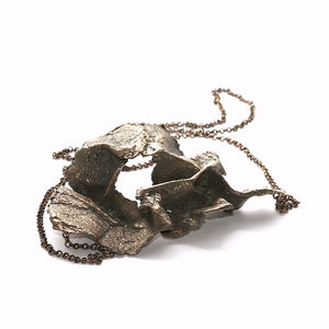 The lip paper necklace - Bronze