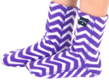 Kids' Fleece Socks - Zigzag