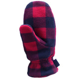 Polar Feet Fleece Mittens in Lumberjack
