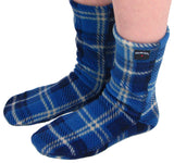 Polar Feet® Fleece Socks - Blue Flannel