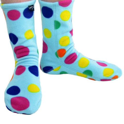 Polar Feet Fleece Socks in Dotty Regular Sole v2