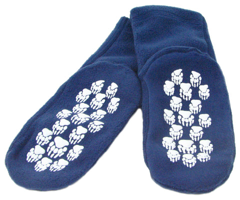 Kids' Nonskid Fleece Socks - Denim