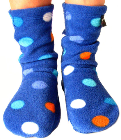Kids' Fleece Socks - Big City Blues