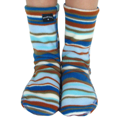 Kids' Fleece Socks - Blue Canoe
