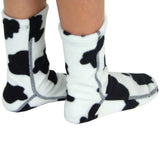 Kids' Fleece Socks - Cow