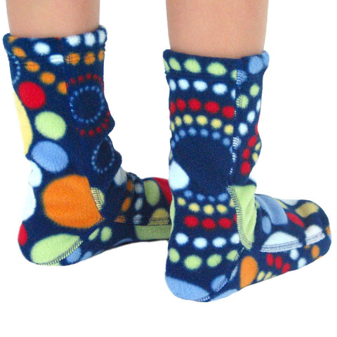 Polar Feet Kids Fleece Socks - Galaxy