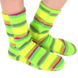 Polar Feet Kids Fleece Socks - Limeade