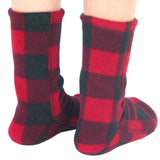 Polar Feet Kids Fleece Socks - Lumberjack