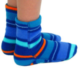 Kids' Nonskid Fleece Socks - Jazz Stripes