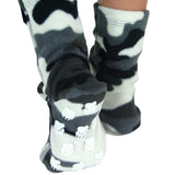 Kids' Nonskid Fleece Socks - Snow Camo
