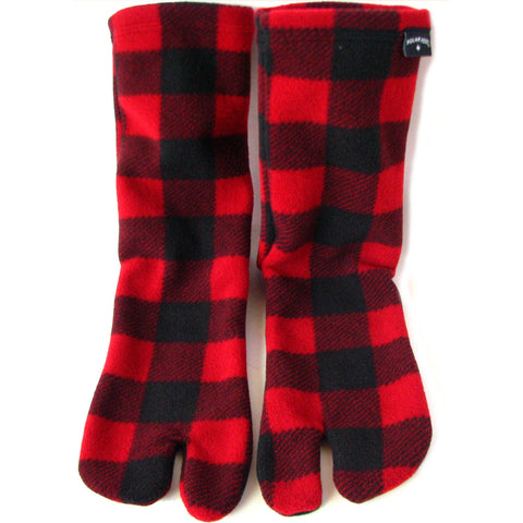 Polar Feet® Fleece Tabi Socks - Lumberjack