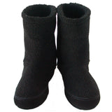 Polar Feet Men's Snugs Slippers in Black Berber Front View