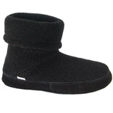 Polar Feet Men's Snugs Slippers in Black Berber Side View