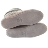 Polar Feet Men's Snugs Slippers in Grey Berber with Real Suede Soles