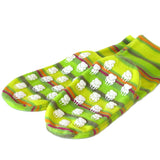 Polar Feet Fleece Socks in Limeade with Nonskid Sole
