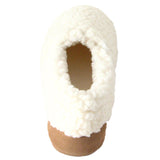 Polar Feet Women's Perfect Mocs in White Berber Back View