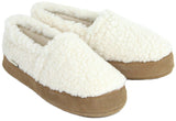 Polar Feet Women's Perfect Mocs in White Berber