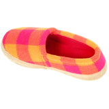Polar Feet Women's Perfect Mocs in Raspberry Sunrise Front View