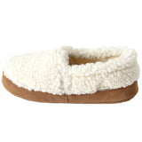 Polar Feet Women's Perfect Mocs in White Berber Left Side