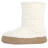 Polar Feet Women's Snugs Slippers in White Berber Left Side
