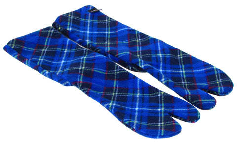 Polar Feet® Fleece Tabi Socks - Blue Argyle