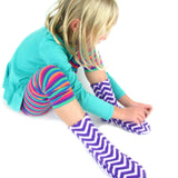 Polar Feet kids' fleece socks with nonslip - zigzag