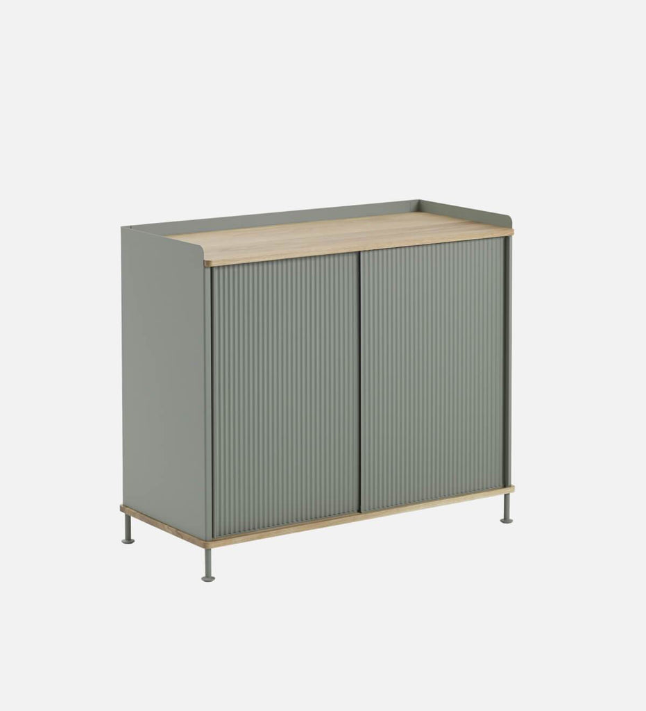 Muuto Enfold Dressoir Tall Oak / Dusty Green