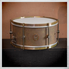 "Snare - A&F 7x14 ""Revival"" Raw Brass"