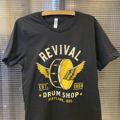 Apparel - T-Shirt (Winged Drum/Black)