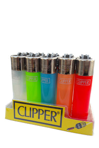 US24 Genuine Clipper Refillable Multipurpose Lighters pack of 5 pieces - Assorted Colors