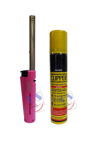 US24 Pack of 2 items - CLIPPER Refillable Candle Lighter (1 pc) with Clipper Gas Can 100 ML (1 pc)