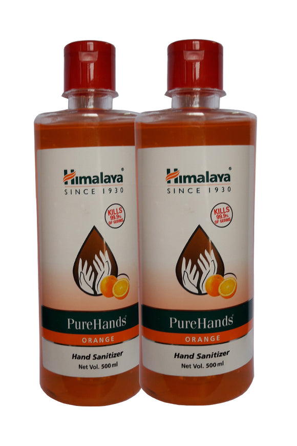 US24 pack of 2 Himalaya Pure Hands Sanitizer (Orange): 2 No.s of 500ML each