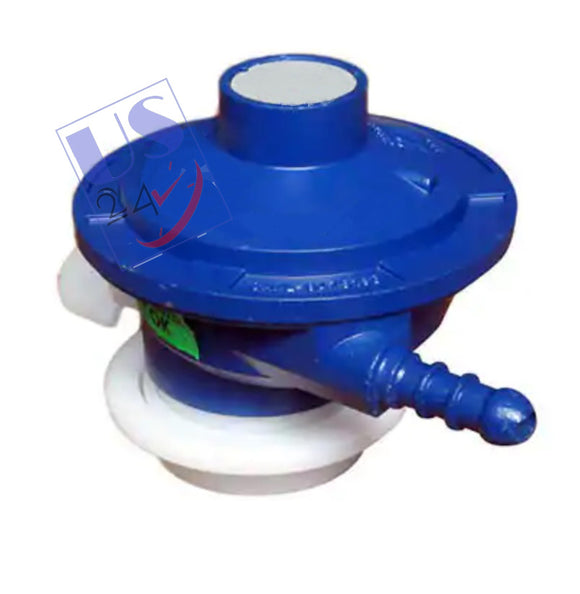 UAS High Pressure Gas regulator Adaptor for LPG cylinder and Geyser BLUE