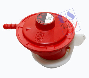 UAS High Pressure Gas regulator Adaptor for LPG cylinder and Geyser RED