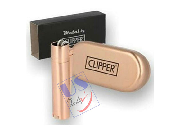 Clipper Metal Premium Lighter (ROSE GOLD) with Box