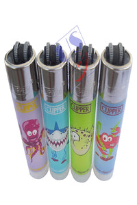 "US24 Multipurpose Lighter Bundle Pack - 4 Genuine Clipper Lighters""SEA ANIMALS"" Collection"