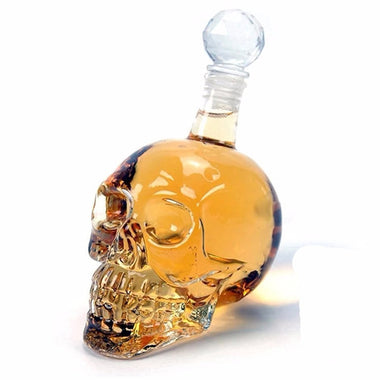 Crystal Skull Head Bottle