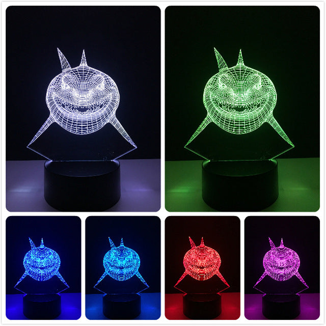 Marine Animal 3D Lamp
