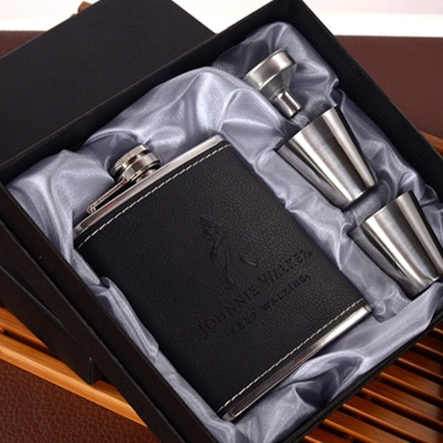 7oz Hip Flask Set